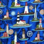 Yatching collection of  fabric - Lighthouses