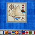 Yatching collection of  quilting fabric - flags