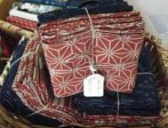 indigo & rust Japanese traditional style fabrics for patchwork & quilting