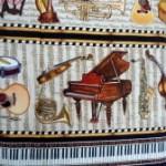 Musical instruments patterned stripe