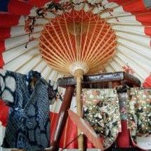 Some of Riverlea Quilts Japanese treasures - Miniature Kimonos