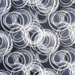 Black, white & grey swirls quilting fabric