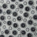 Medallion Black & White quilting fabric