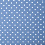 Wedgewood blue with white dots quilting fabric